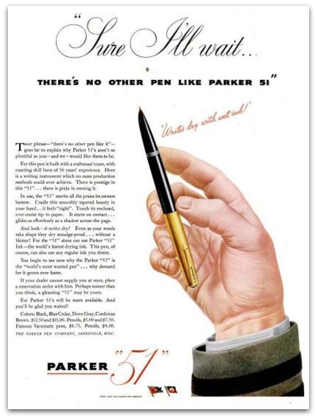 Parker 51, pluma estilográfica