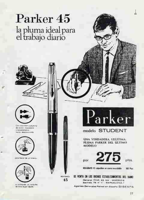 Parker 45, pluma estilográfica