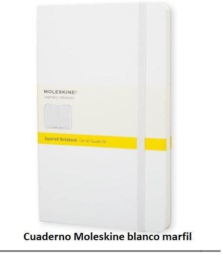 Cuaderno Moleskine blanco