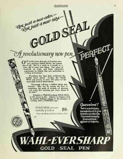 plumas estilográficas, Segunda Guerra Mundial