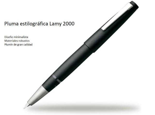pluma Lamy 2000